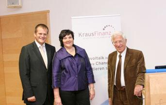 Joachim und Annette Kraus mit Dr. Franz Alt am 30.09.2009